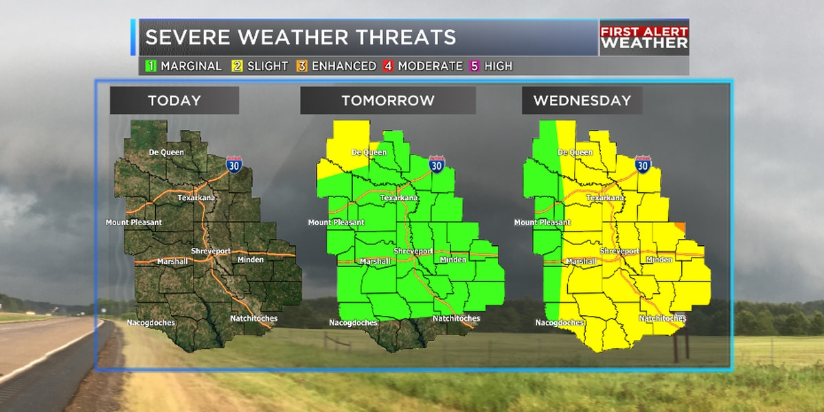 Increasing severe weather potential Tuesday night and Wednesday