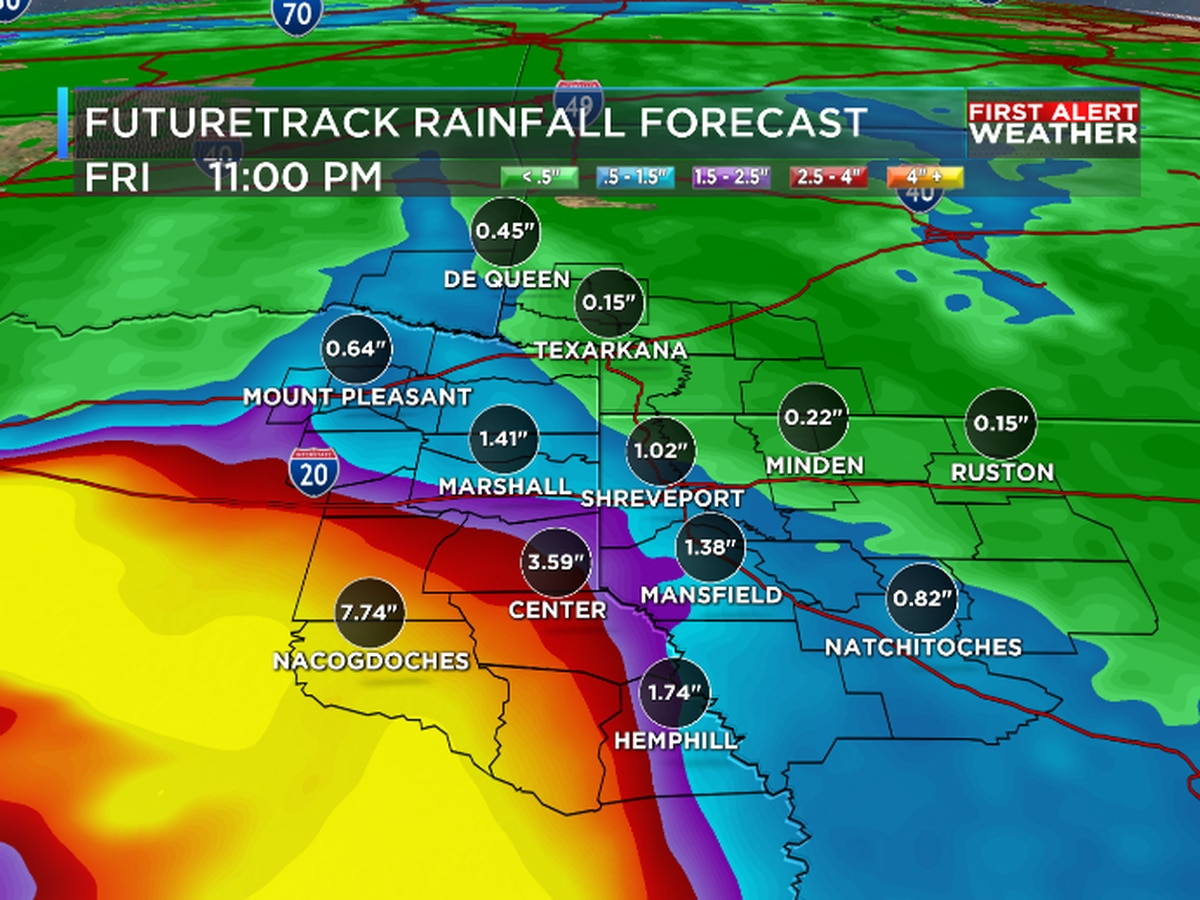 First Alert: Tropical Storm Imelda to bring welcome rain to the ArkLaTex