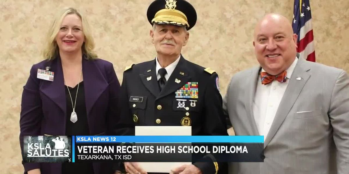 84-year-old veteran finally gets high school diploma