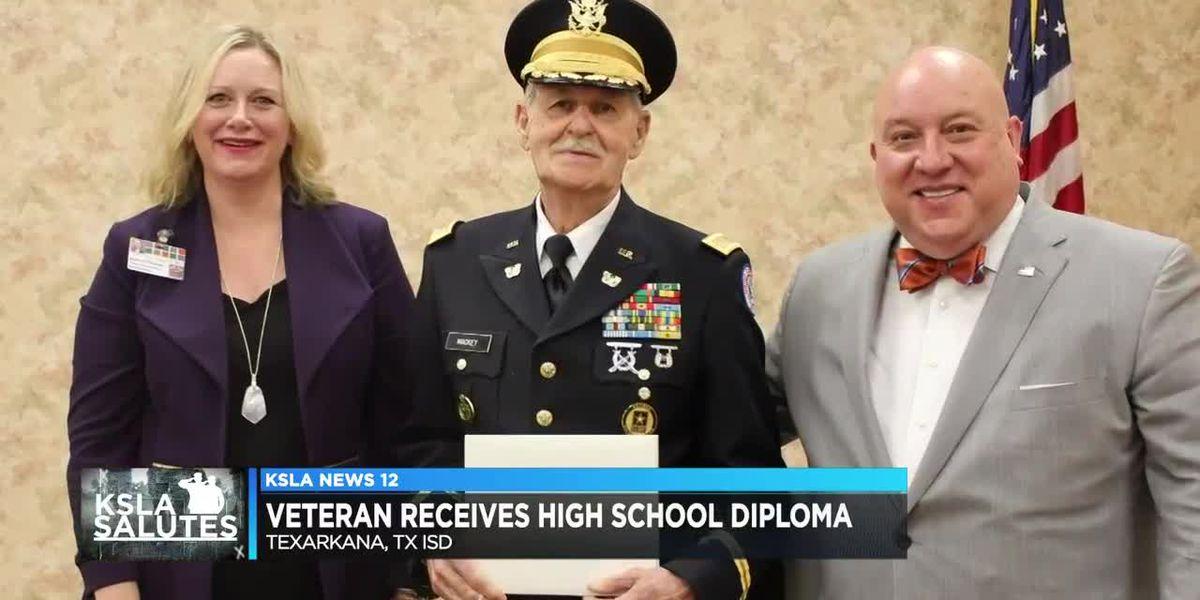 84-year-old veteran finally gets high school diploma