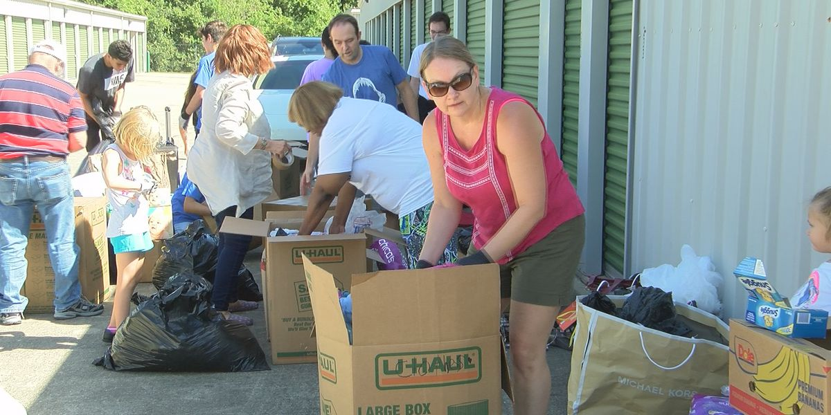 Baton Rouge firefighter collecting supplies for Bahamas relief receives overwhelming amount of supplies
