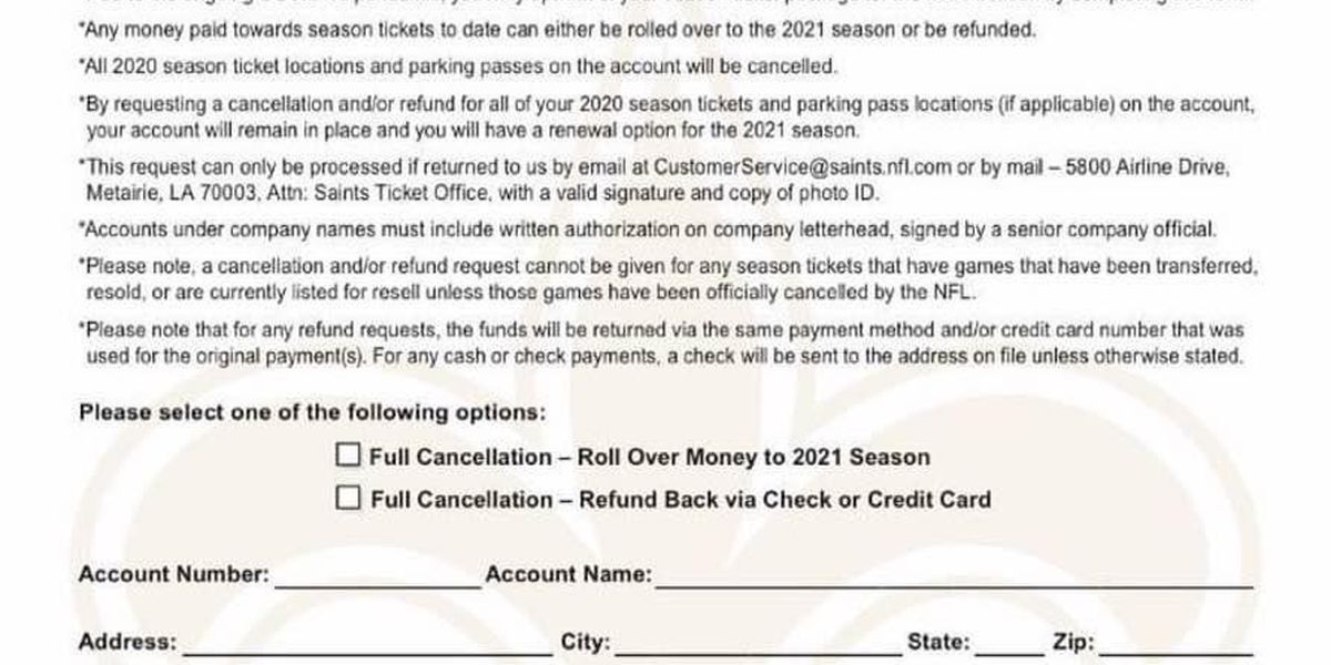 Saints season ticket holders opt out of 2020 ahead of much uncertainty