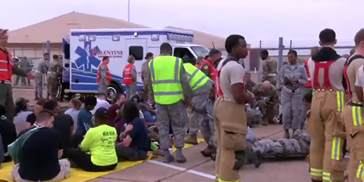RAW: Drill prepares airmen for worst-case scenario leading up to air show