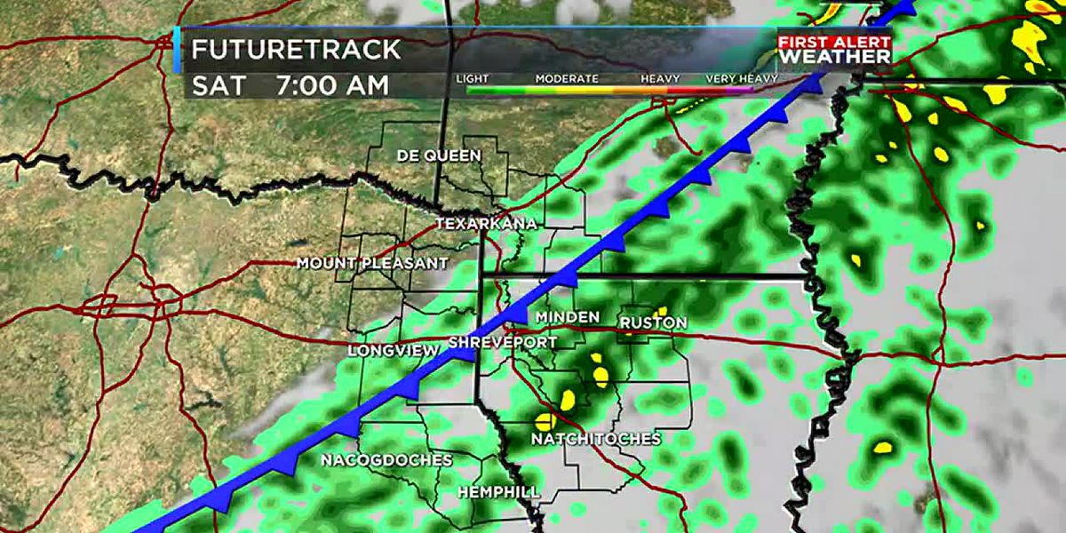 Next cold front arriving tonight brings more rain and cooler temperatures