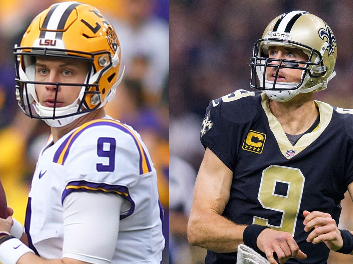 Joe Burrow meets Drew Brees for the first time: 'You were my idol growing up'