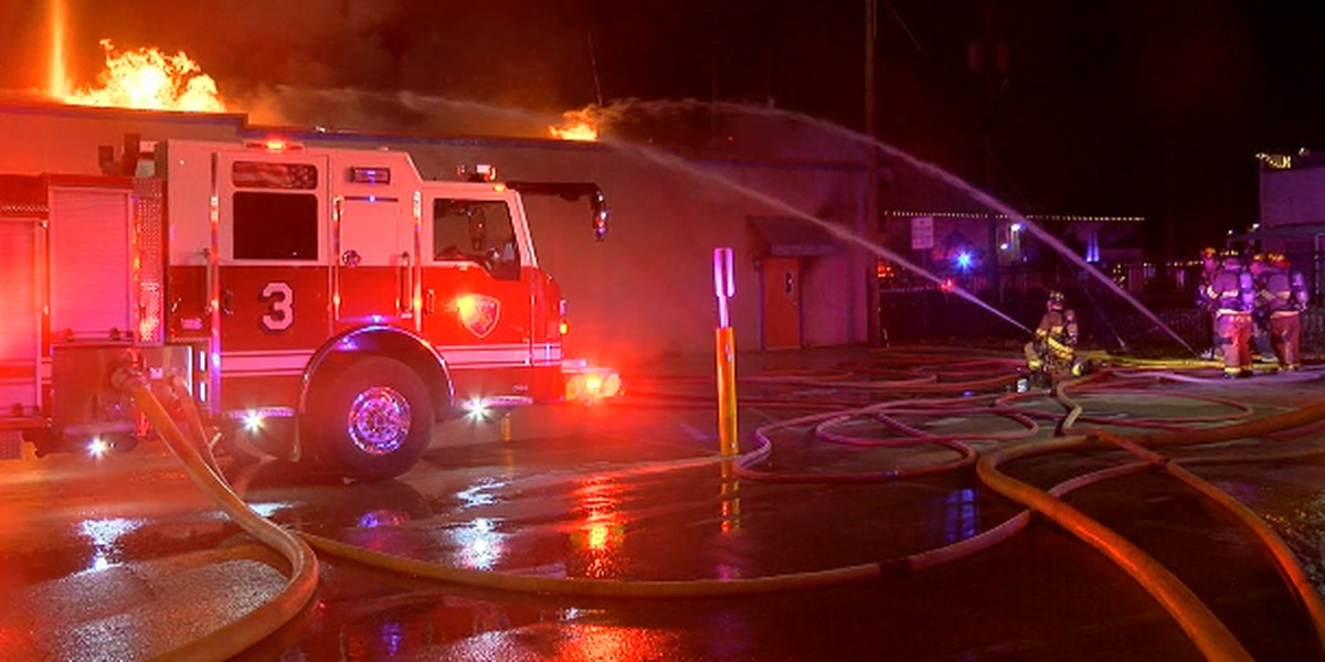 100-year-old building gutted during 2-alarm fire in downtown Longview