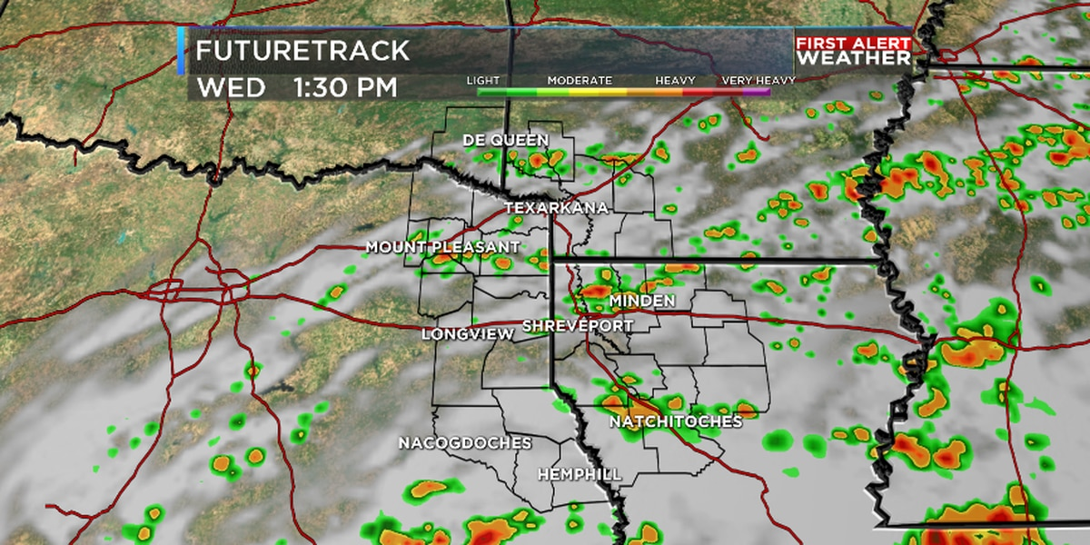More scattered showers and storms Wednesday