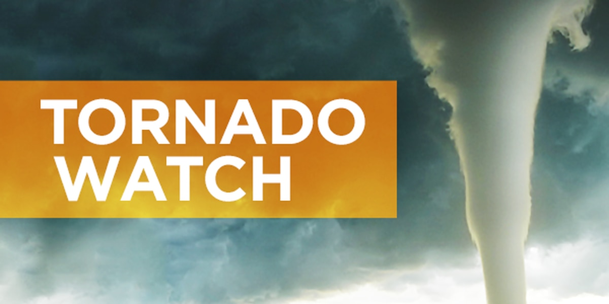 Tornado watches issued for multiple counties and parishes