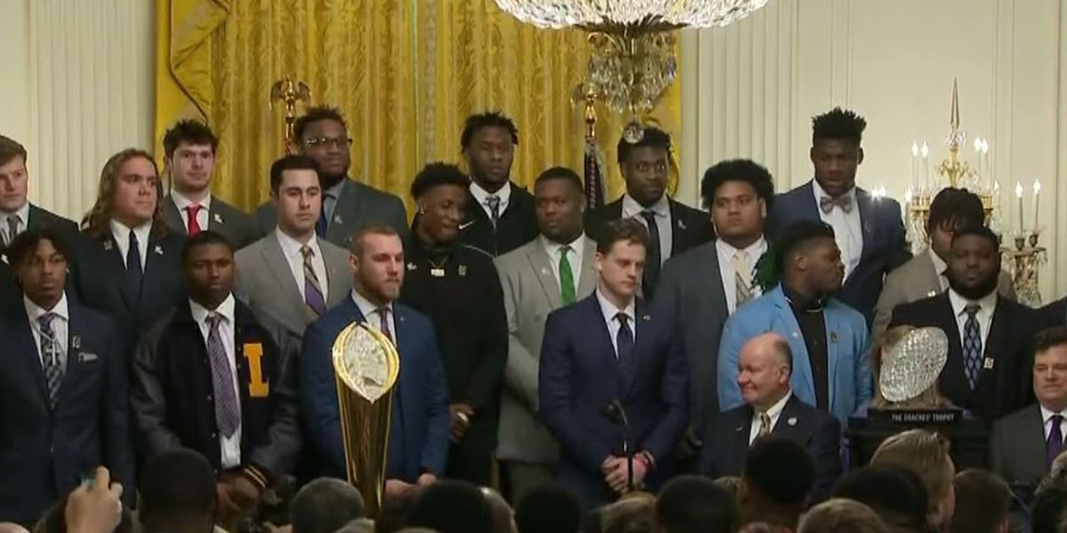 Video of LSU players dancing to 'Get The Gat' at White House goes viral