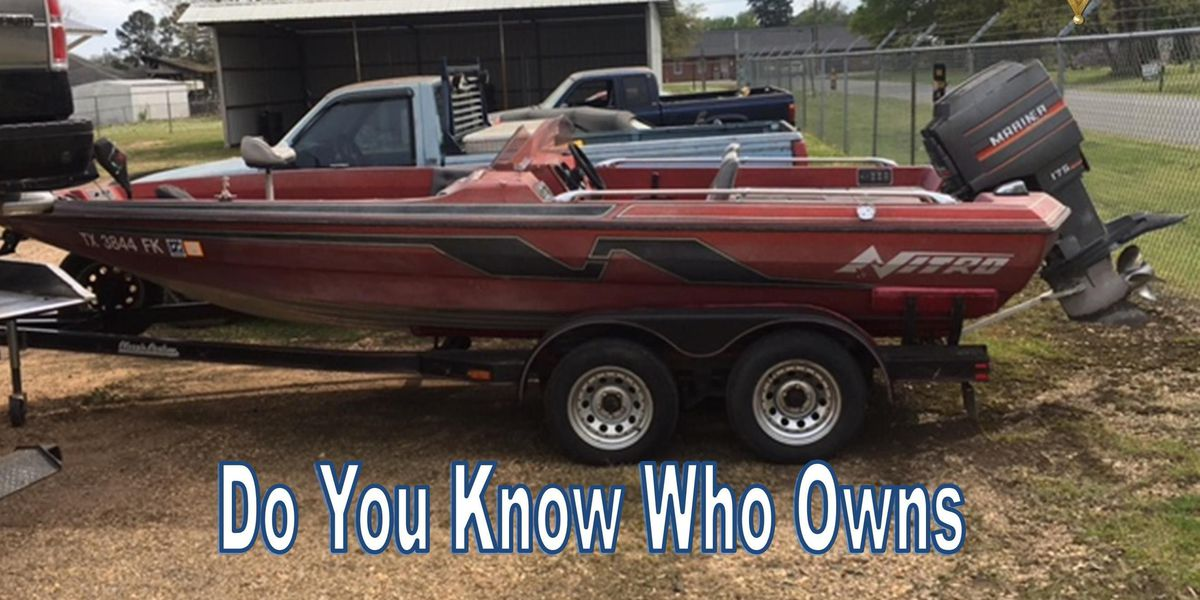 Bossier Parish Sheriff's Office searching for owner of boat