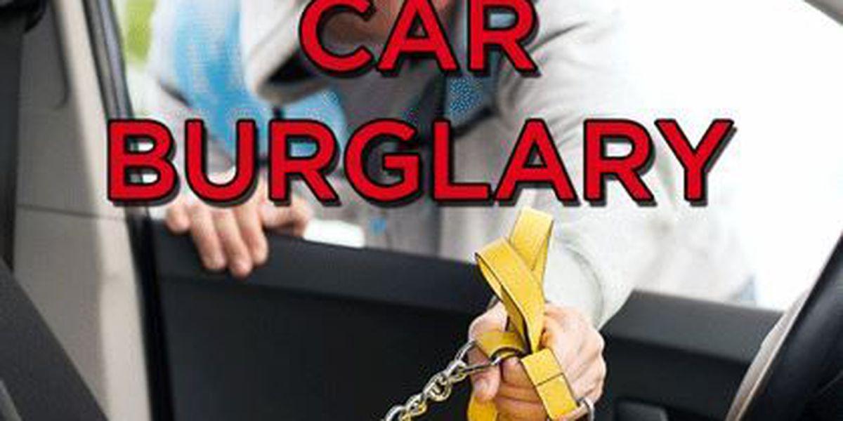 ETX authorities provide tips to prevent vehicle burglary