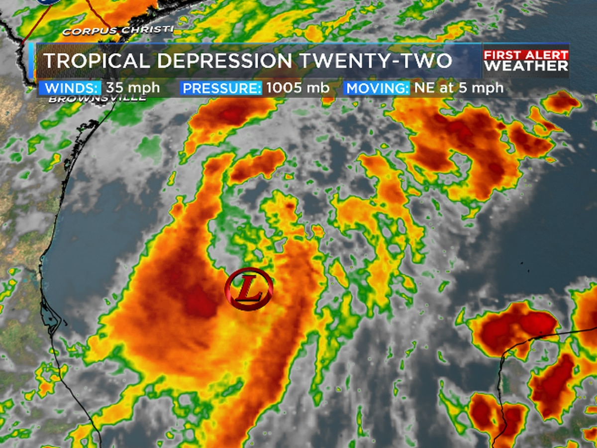 Tropical Depression 22 has formed in the gulf