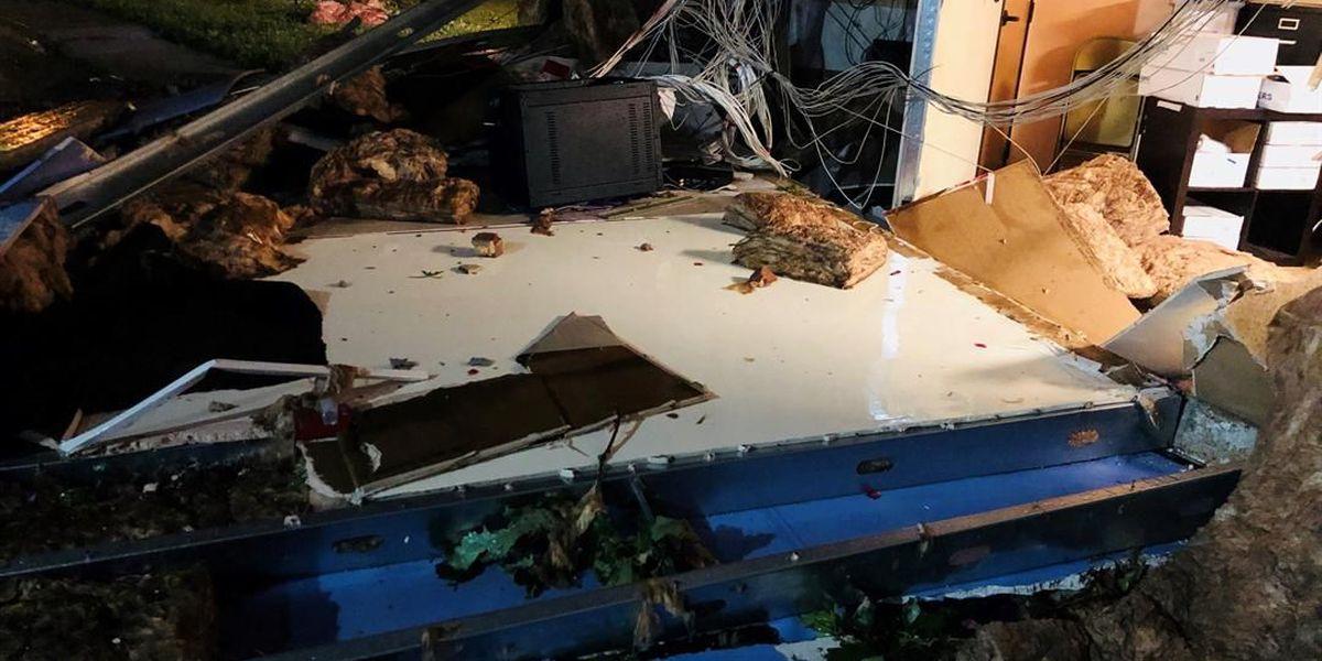 Shreveport church damaged in storm