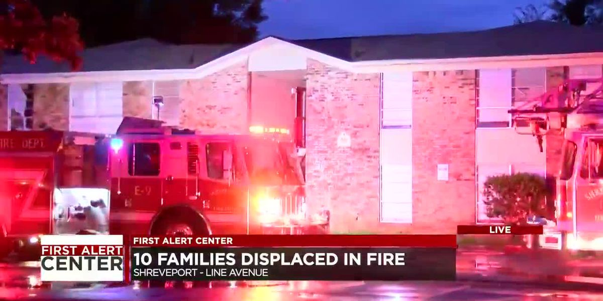 10 families displaced after fire