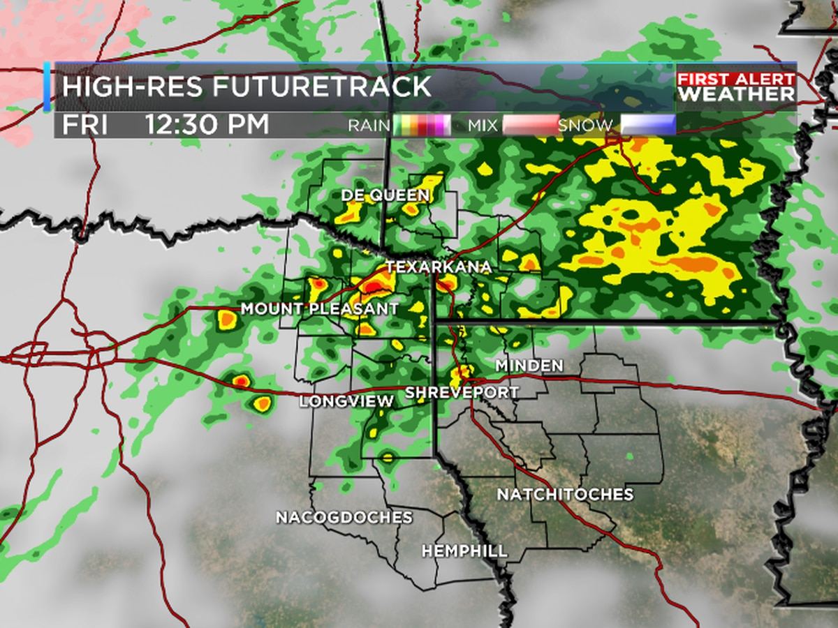 Scattered wet weather for ArkLaTex