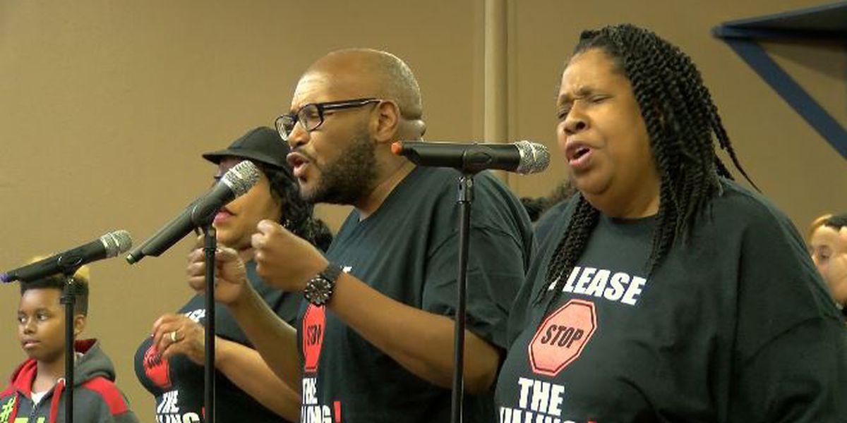 Northwest Louisiana gospel group takes aim at violence