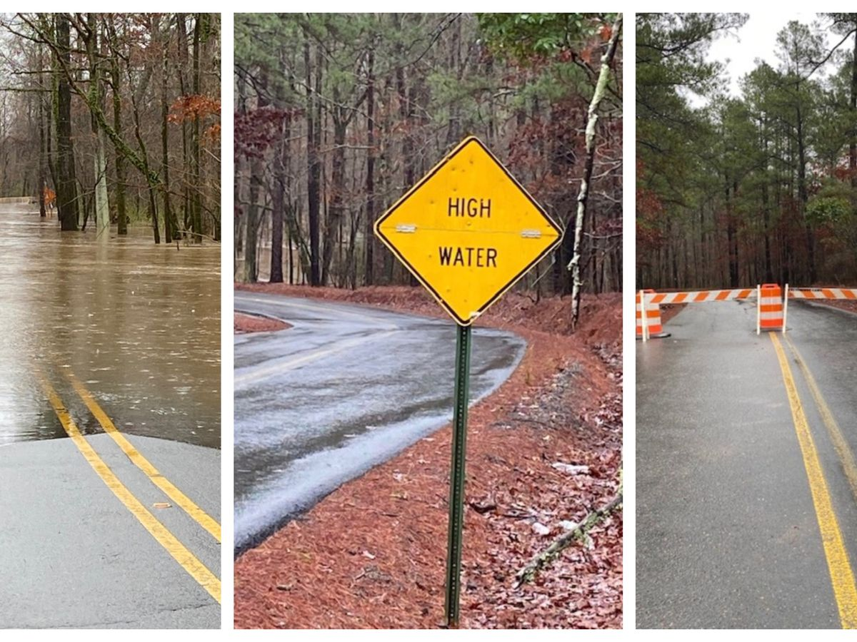 Caddo Parish road closed due to high water
