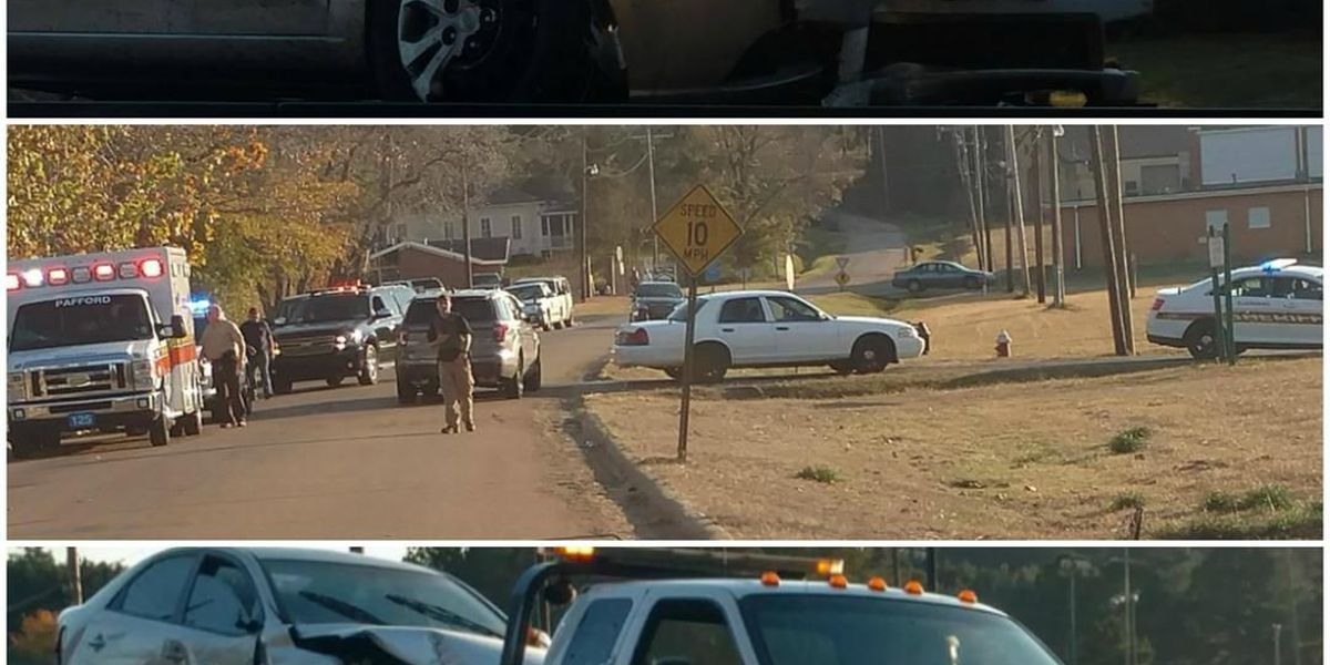 Brief police chase ends in wreck
