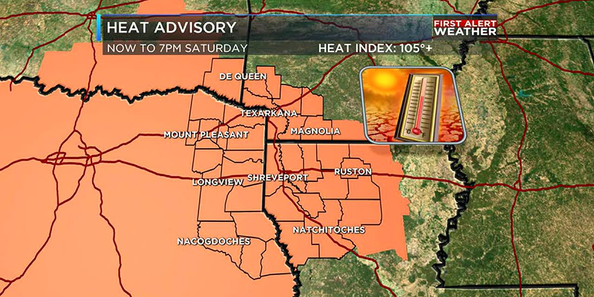 Dangerous heat returns to the ArkLaTex