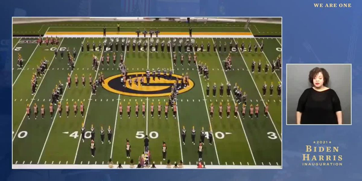 "Grambling State University's band performs in ""We are One"" event"