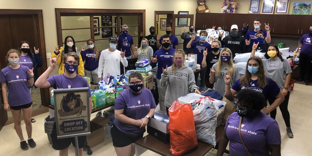 Northwestern State University collecting supplies to send to hurricane ravaged McNeese State University