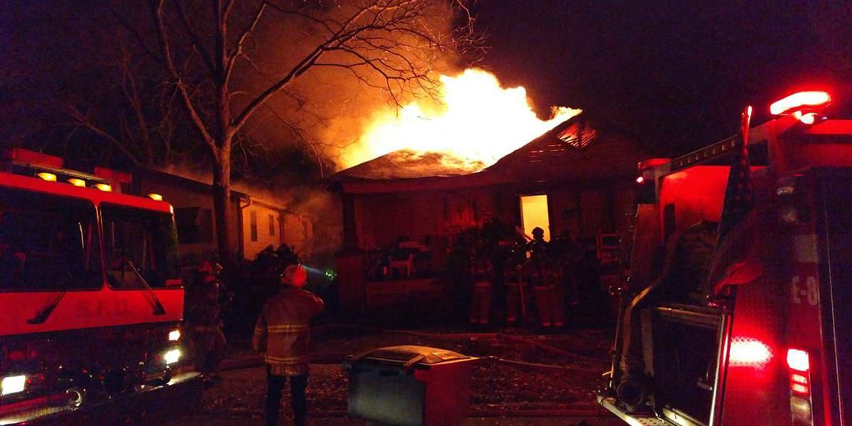 Fire destroys home, woman escapes unharmed
