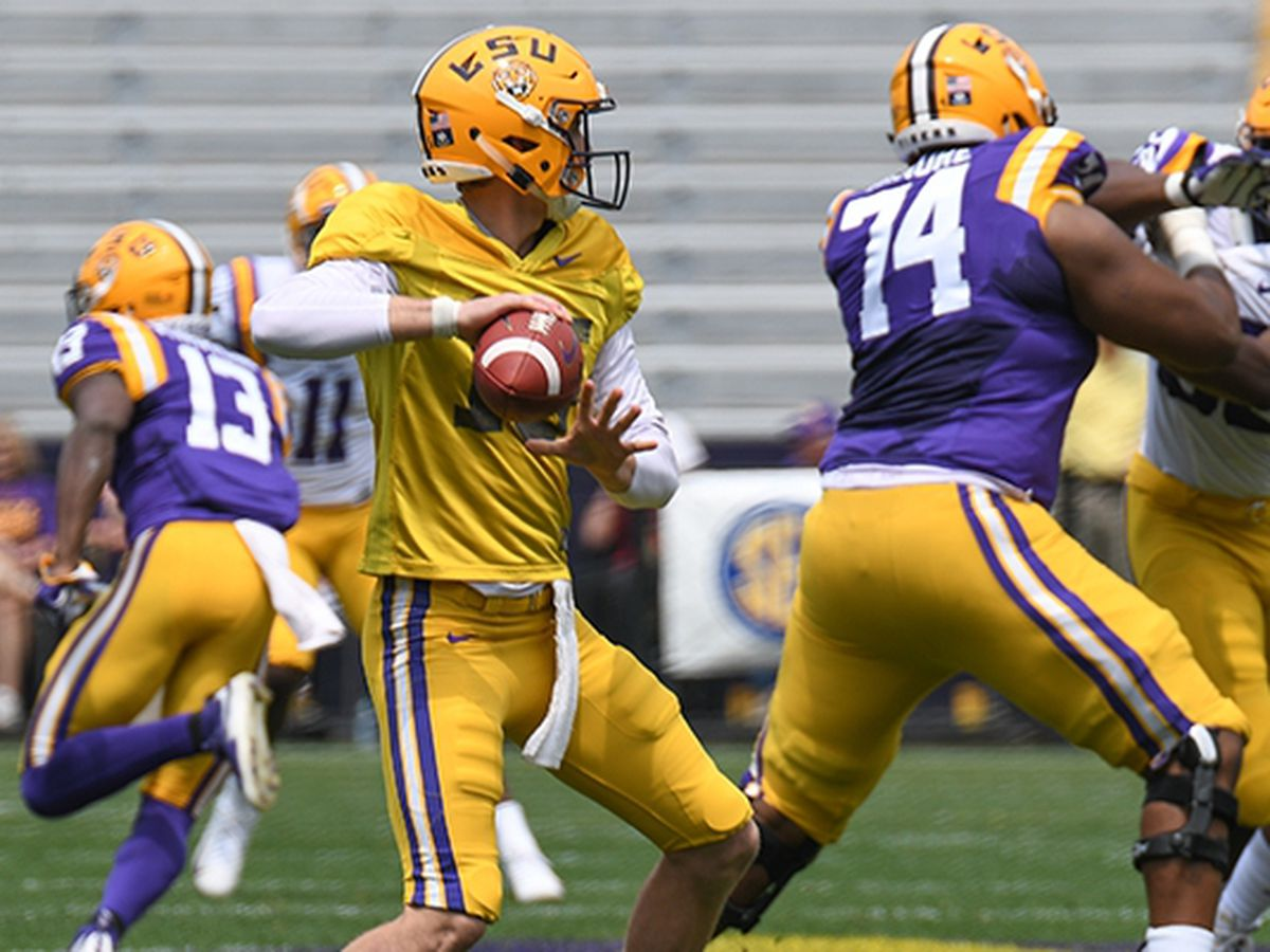 LSU backup QB Myles Brennan receives praise from head coach Ed Orgeron