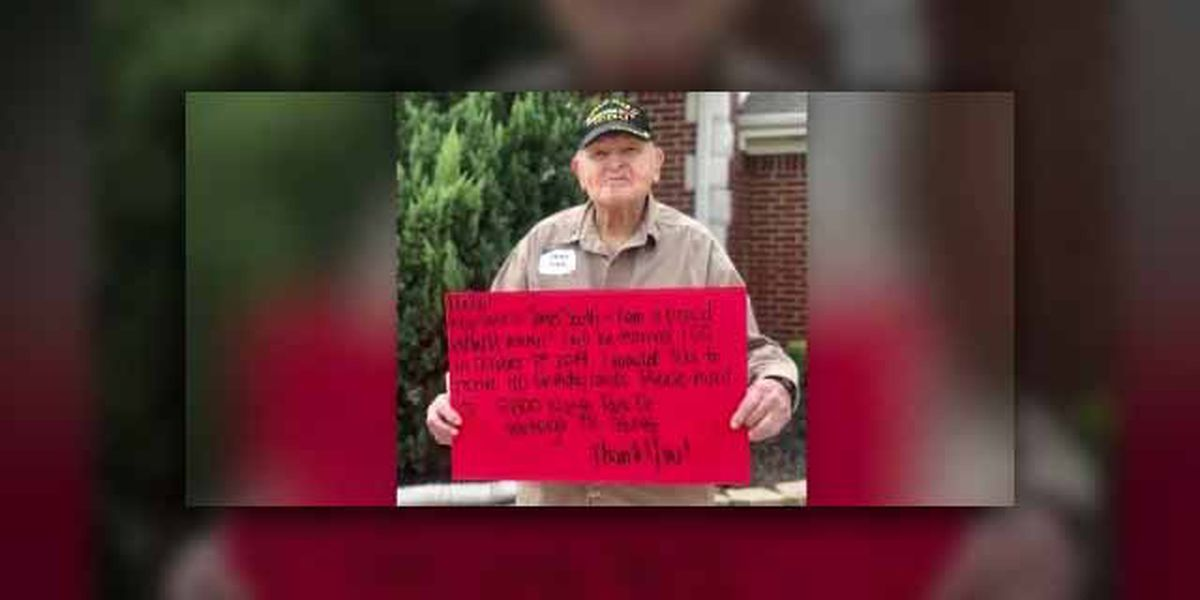 Texas WWII veteran asks for 100 cards for his 100th birthday