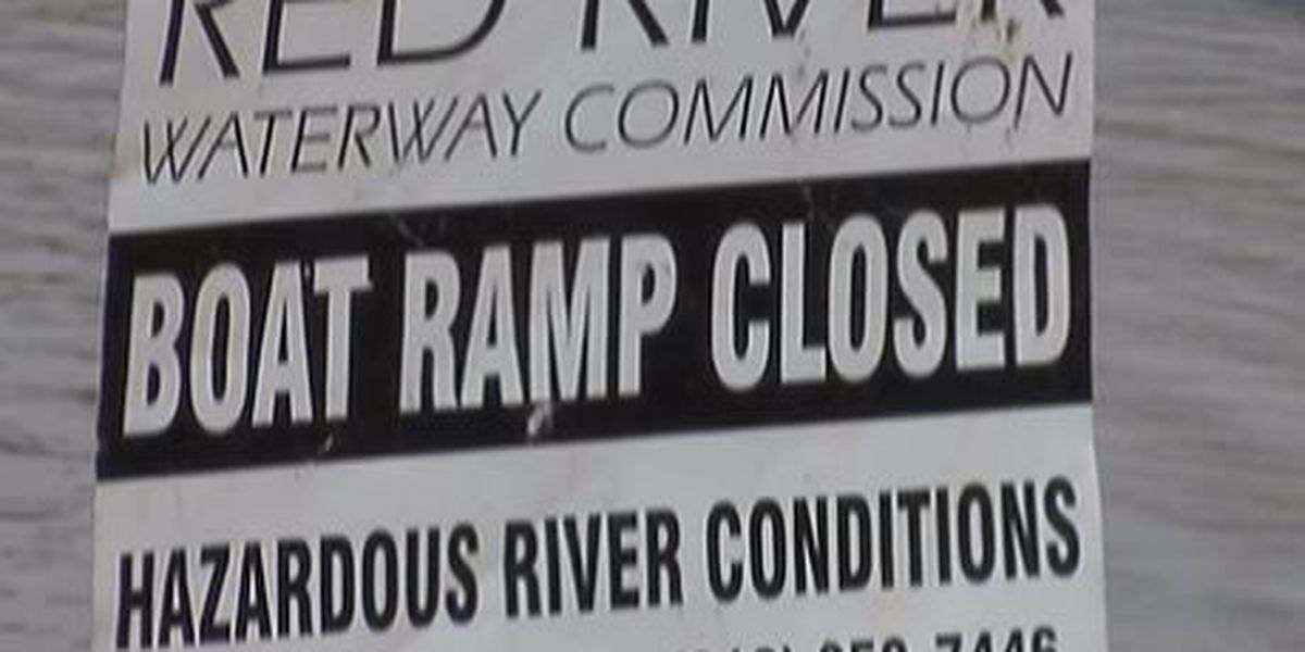 High water temporarily closes some boat launches on Red River