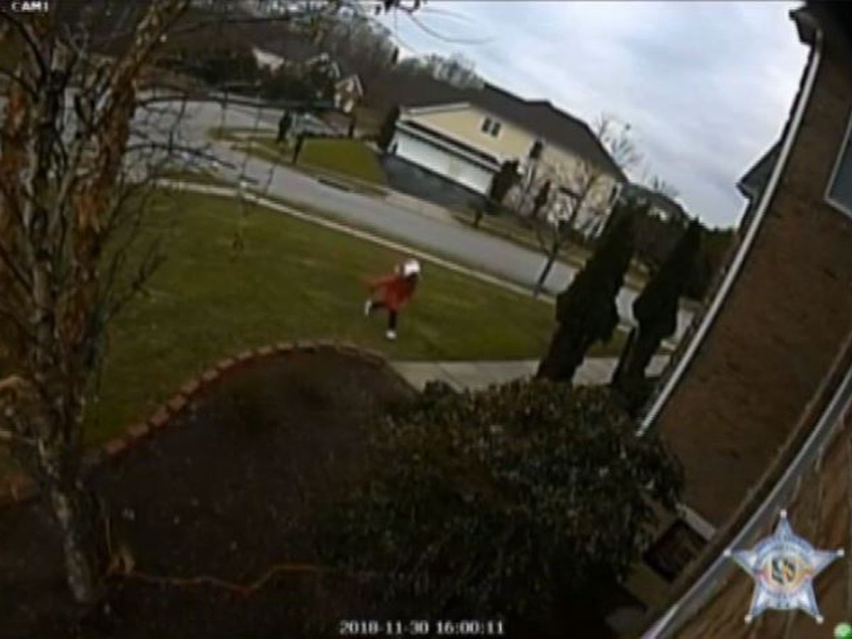 Young girl caught on camera stealing package off MD front porch