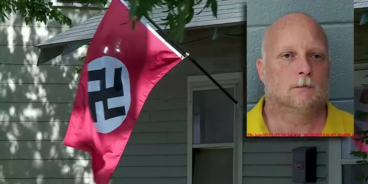 Sheriff: Oklahoma woman shot trying to steal Nazi flag