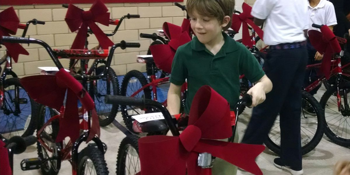 Bossier elementary students surprised with bikes