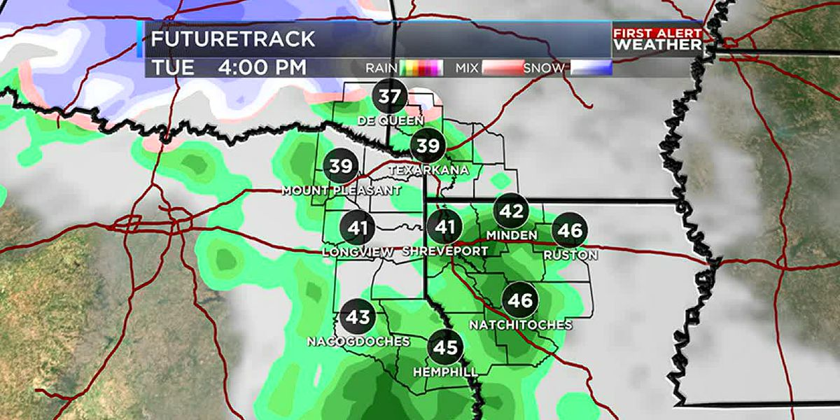 Cold temperatures with rain on its way Tuesday