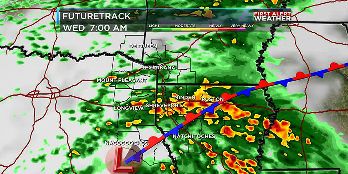 Rain returns for tonight and Wednesday morning