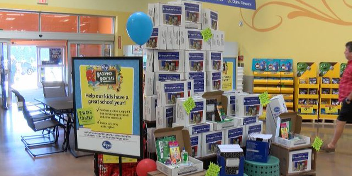 Kroger backpack boosters supplying school supplies for children