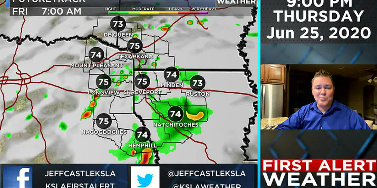 Wet weather continues Friday and this weekend