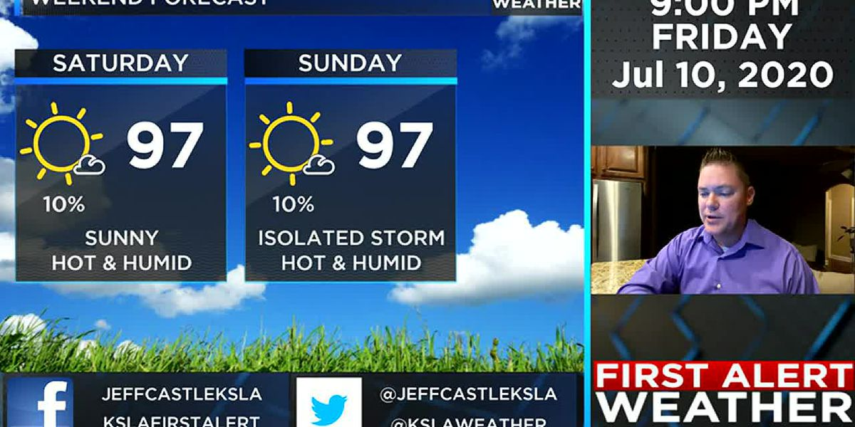 Jeff's Friday evening weather update