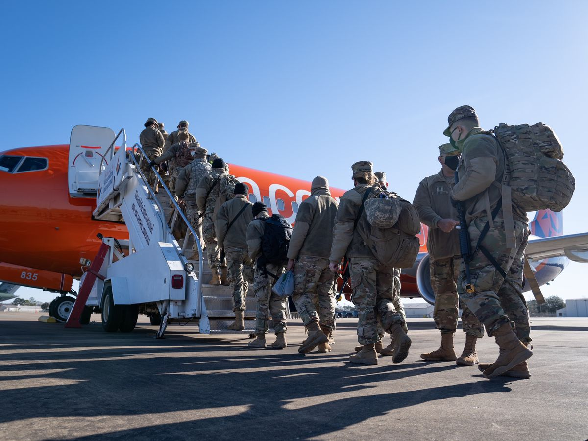 La. National Guard troops assist with security in Washington, D.C.