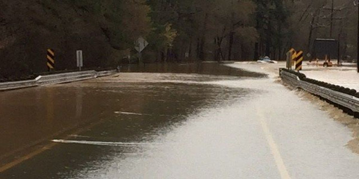 Minden roads closed, washed out from heavy rains