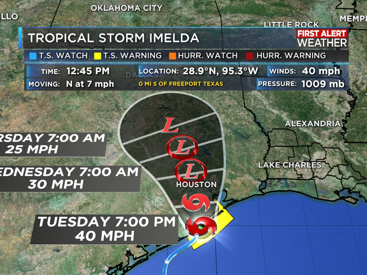 Tropical Storm Imelda forms near Freeport, TX
