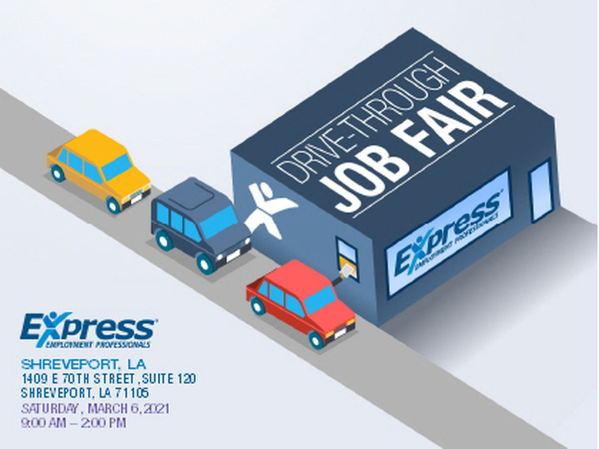 Drive-thru job fair coming to Shreveport in early March