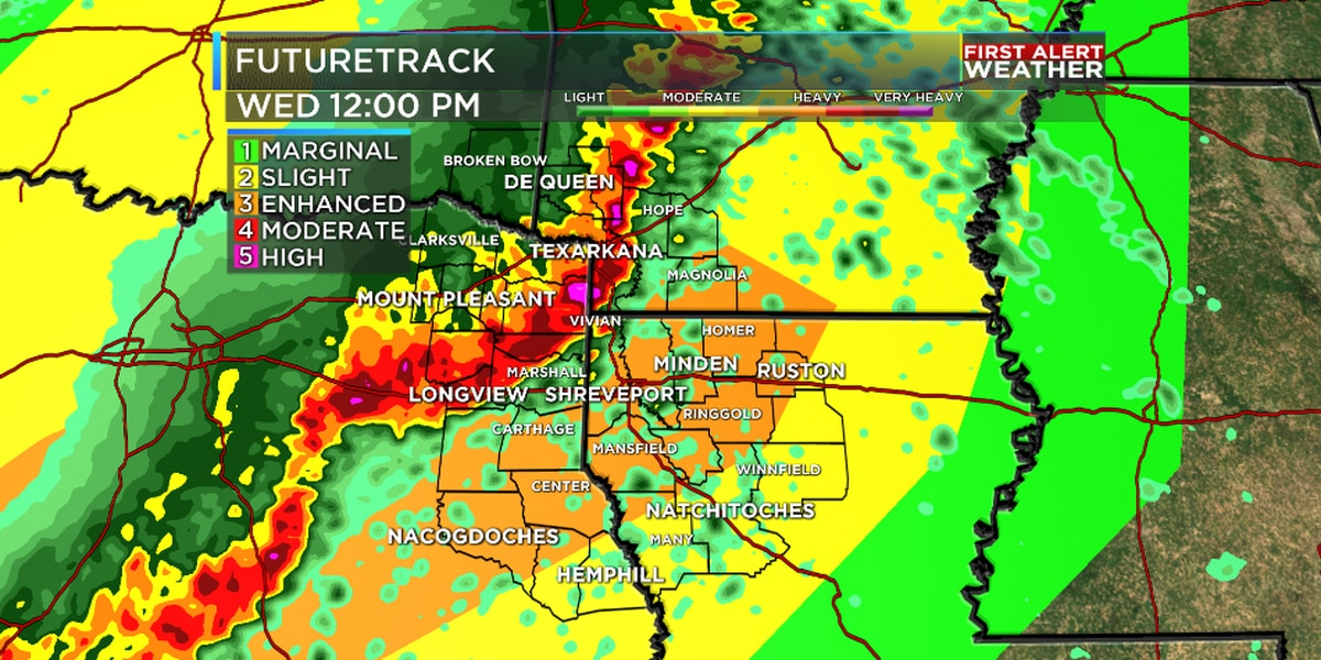 FIRST ALERT: Enhanced risk of severe weather Wednesday