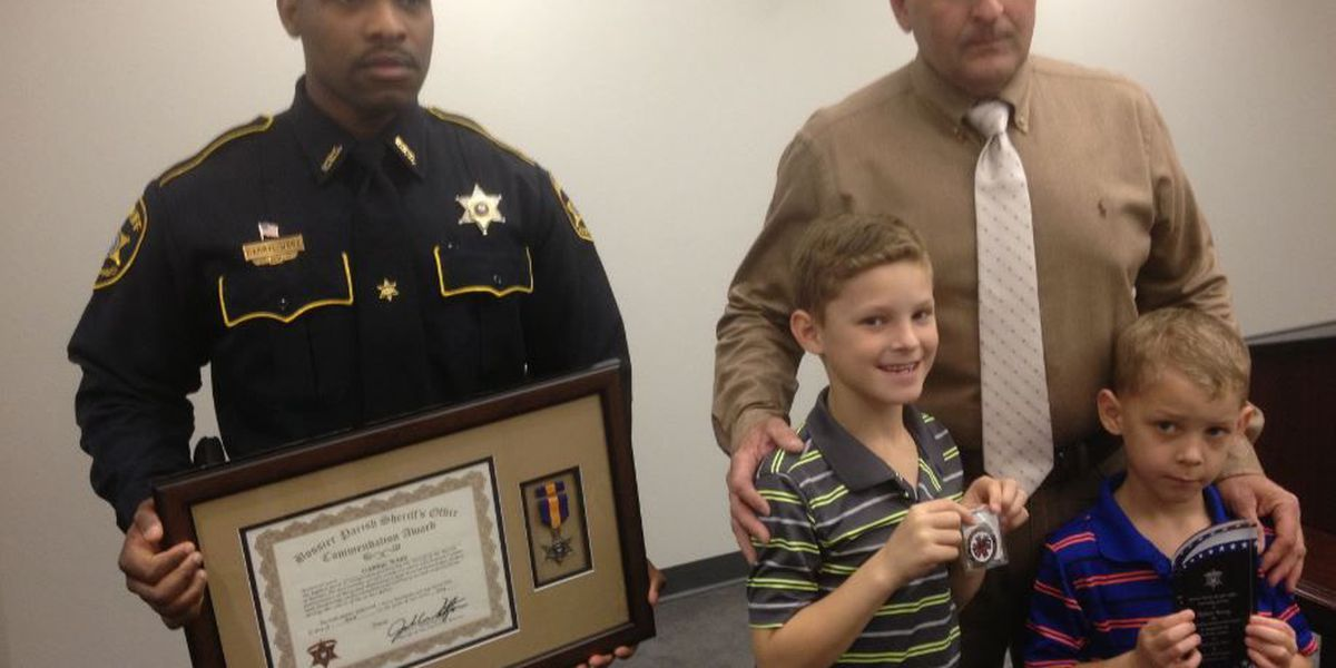 Bossier sheriff honors two men for bravery, life-saving acts
