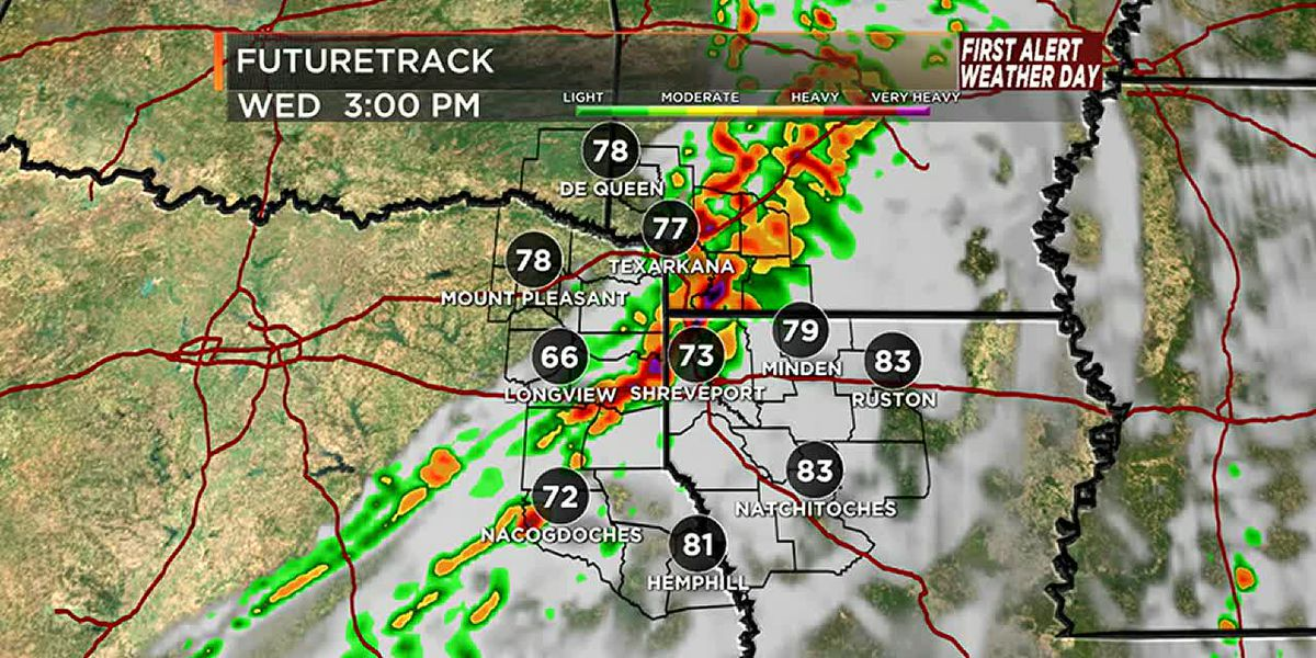 Wednesday is a First Alert Weather Day with severe weather possible