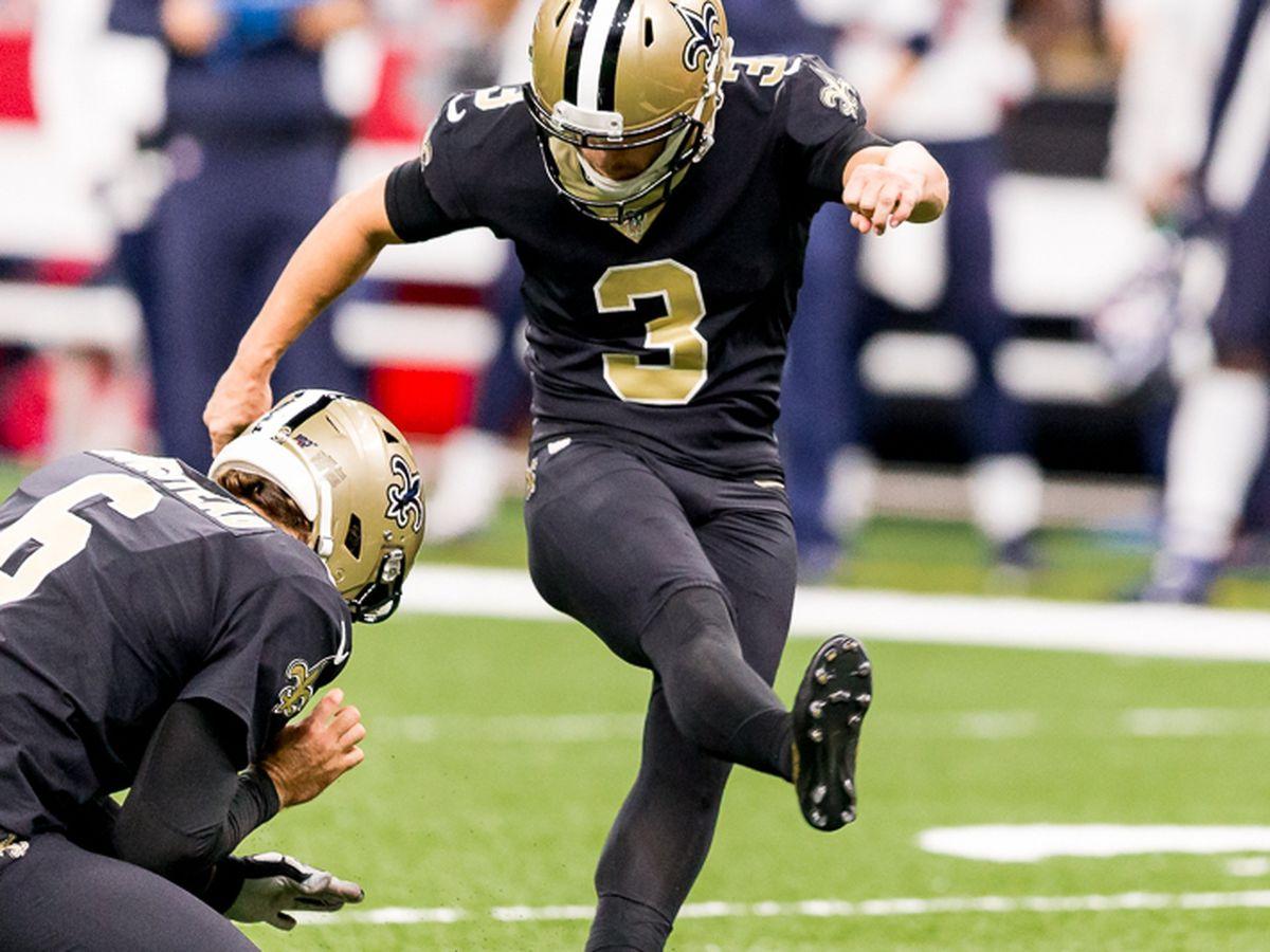 Report: Saints restructure contract of kicker Wil Lutz