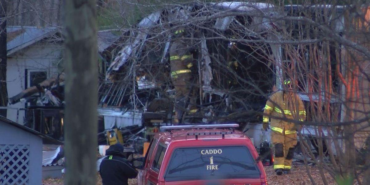 Caddo Parish home engulfed in flames