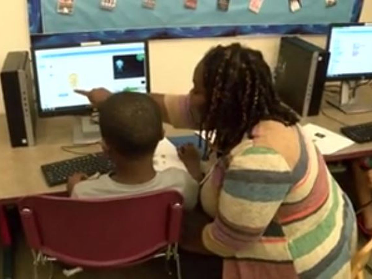 Library helps youths learn to code their way to the moon