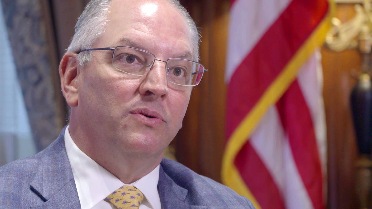 La. Gov. Edwards speaks in Shreveport, ahead of Trump rally