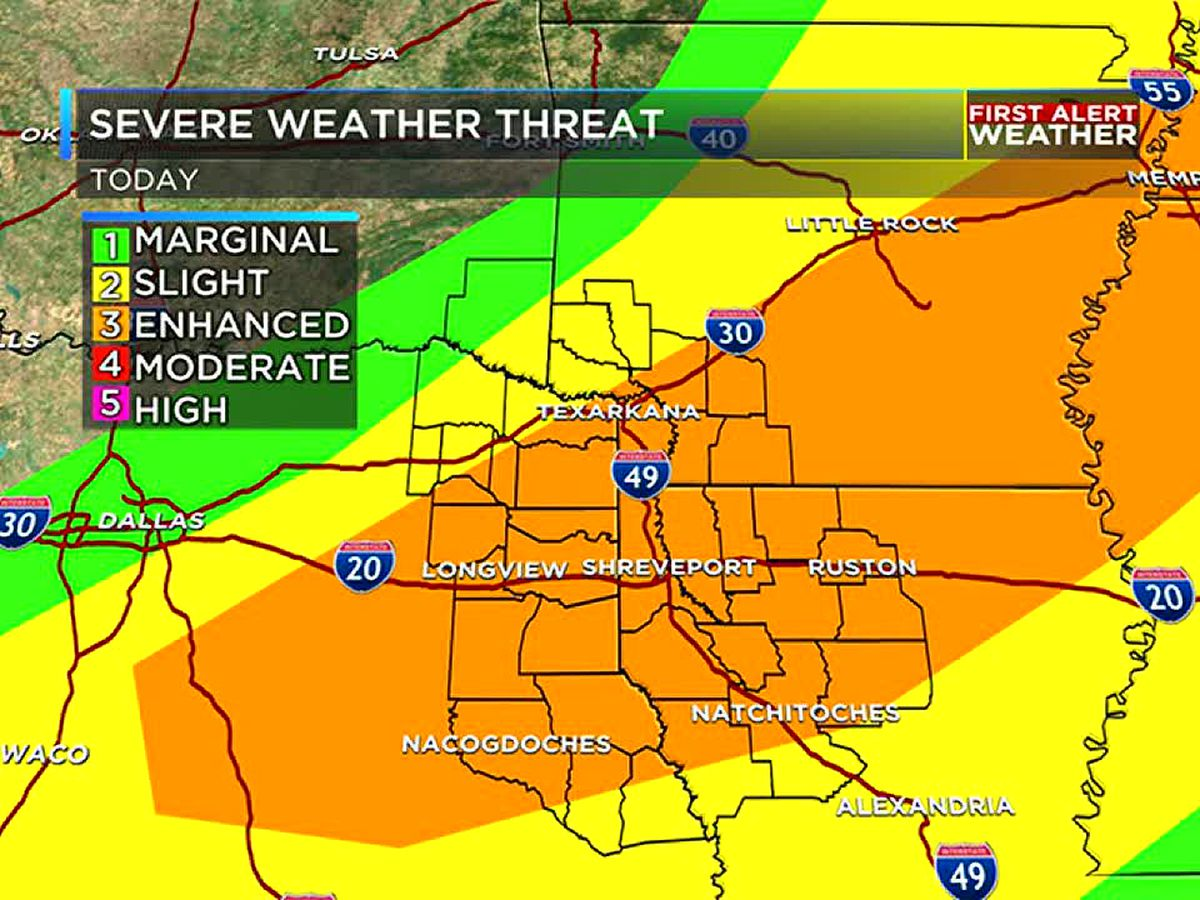 Strong to severe storms possible this afternoon
