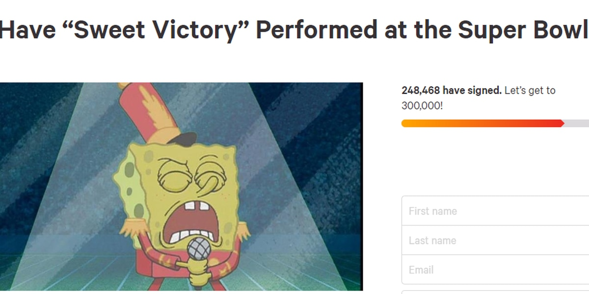 Spongebob fans ask NFL for 'Sweet Victory' tribute to late creator during Super Bowl halftime show